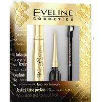 Zestaw  mascara + eyeliner czarny + kredka