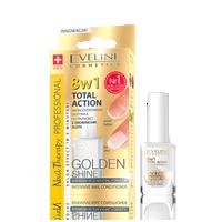 Skoncentrowana odżywka do paznokci z drobinkami złota Golden Shine 8w1