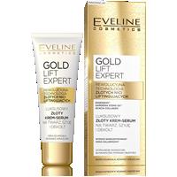 Luksusowy złoty krem-serum na twarz, szyję i dekolt