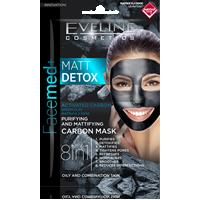 Oczyszczająco-matująca maska węglowa 8w1