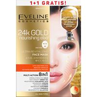 Multi Action 8in1 intensywnie rewitalizująca koreańska maska na tkaninie Złoty Eliksir Odżywczy
